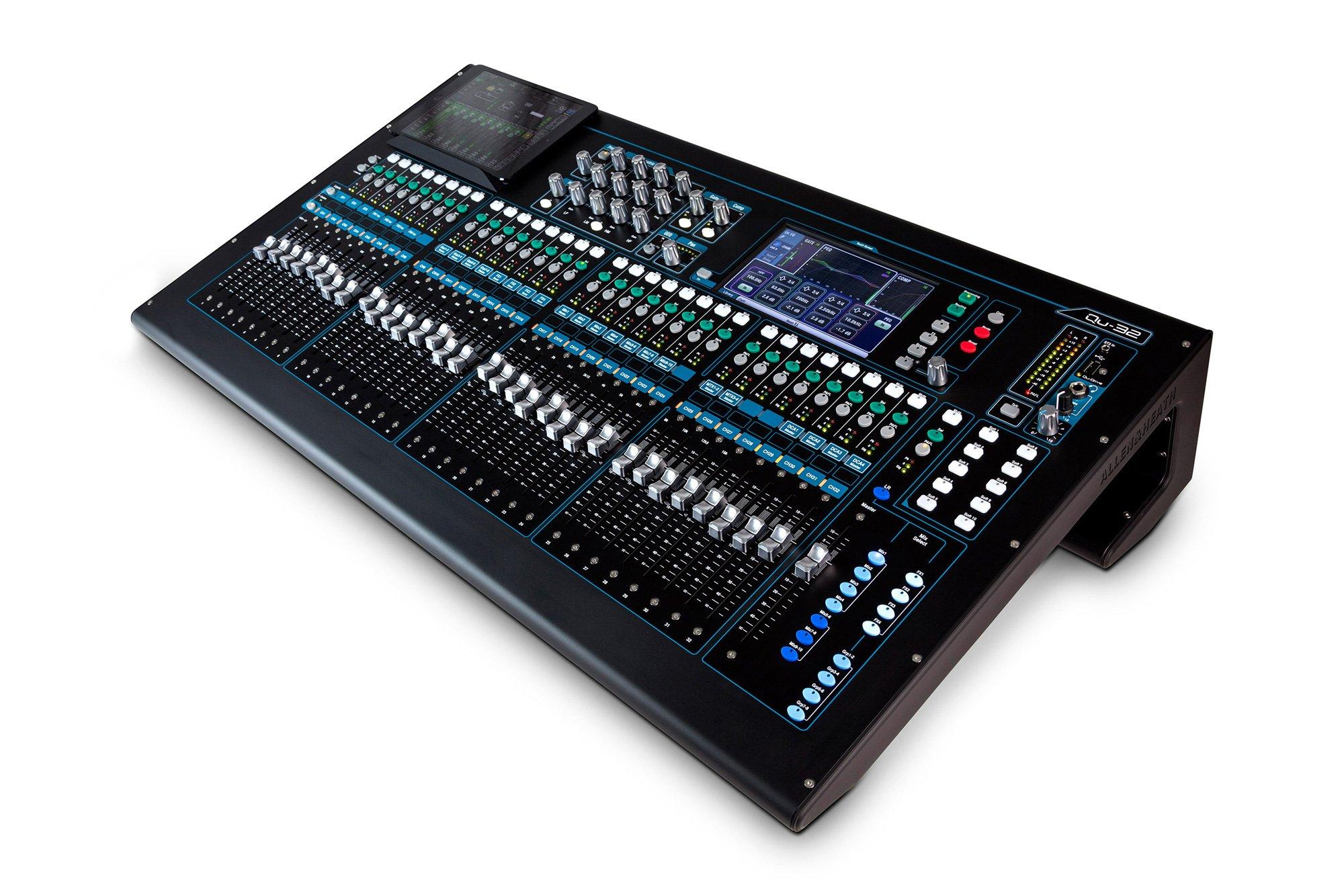 allen heath qu 32c 38 in 28 out digital audio mixer chrome edition. Black Bedroom Furniture Sets. Home Design Ideas