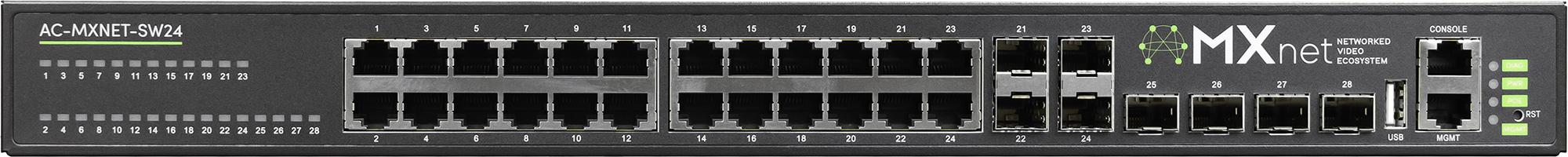 AVPro Edge AC-MXNET-SW24 Copper PoE Network Switch - 24 Ports APR-AC-MXNETSW24