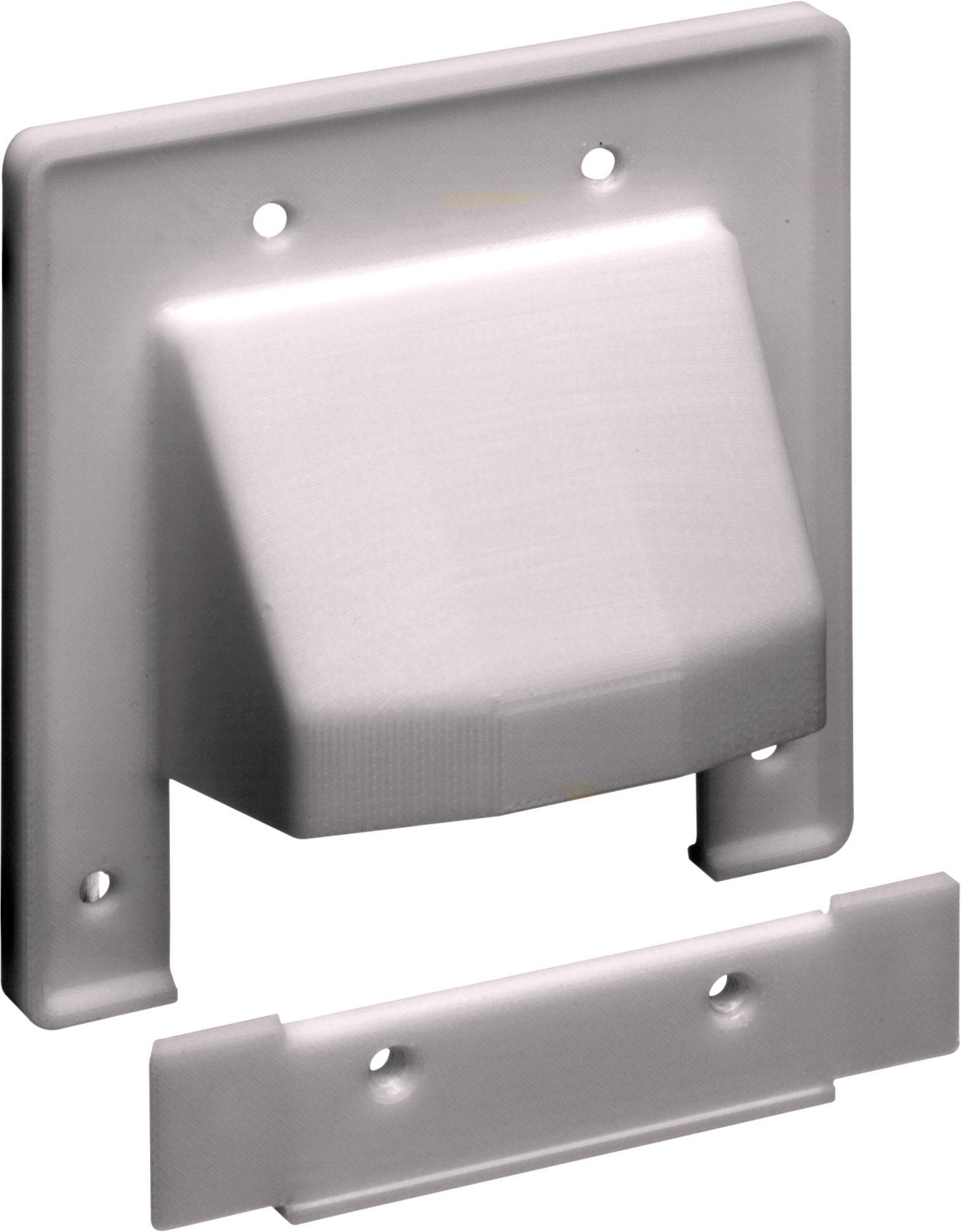 Low Voltage Faceplate : Arlington cer gang reversible piece low voltage cable