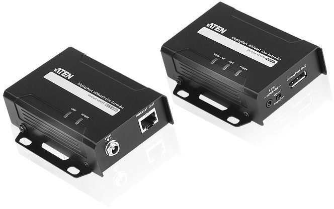 ATEN VE901 DisplayPort Cat6 HDBaseT-Lite Extender Transmitter & Receiver Kit - 4K40m 1080p70m  9B0998