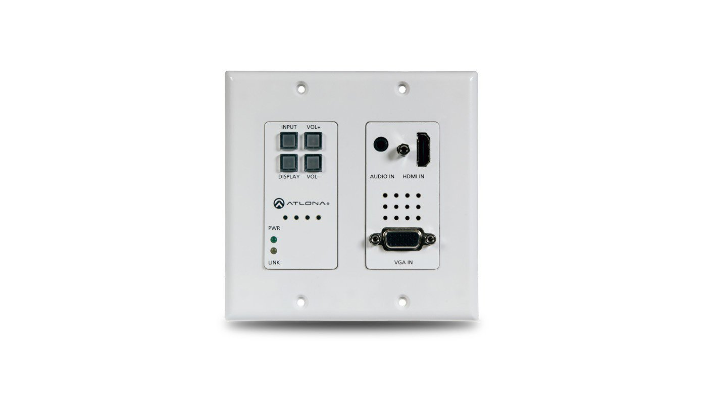 Atlona At Hdvs 200 Tx Wp Two Input Wall Plate Switcher For Hdmi And Wiring Plates Vga Sources