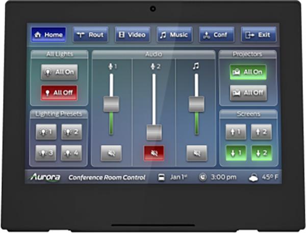 Aurora RXT-10D-B 10 Inch Desktop ReAX IP Touch Panel Control System - Black AURA-RXT-10D-B