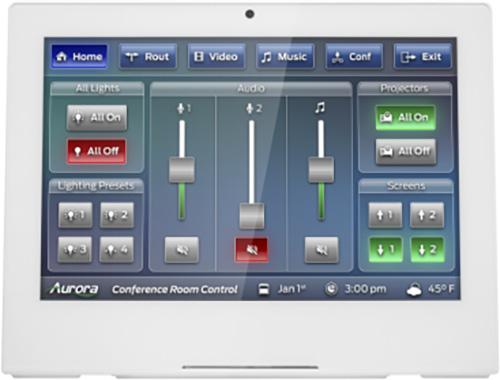 Aurora RXT-10D-W 10 Inch Desktop ReAX IP Touch Panel Control System - White AURA-RXT-10D-W