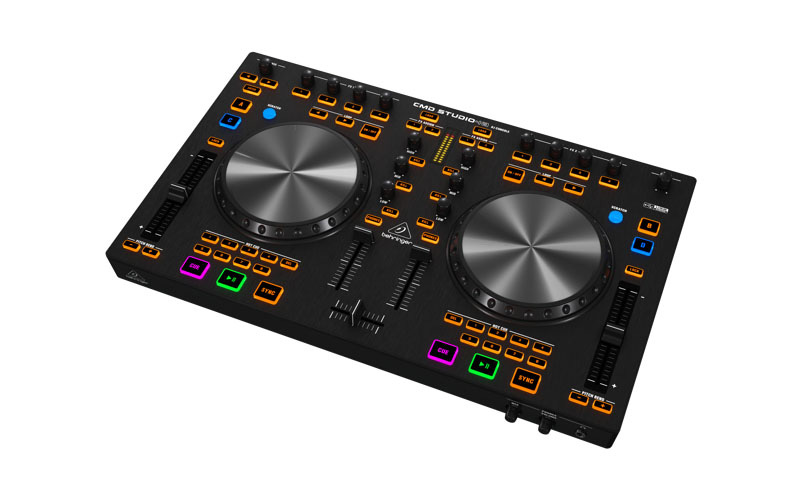 behringer cmd studio 4a 4 deck dj midi controller with 4 channel audio interface. Black Bedroom Furniture Sets. Home Design Ideas