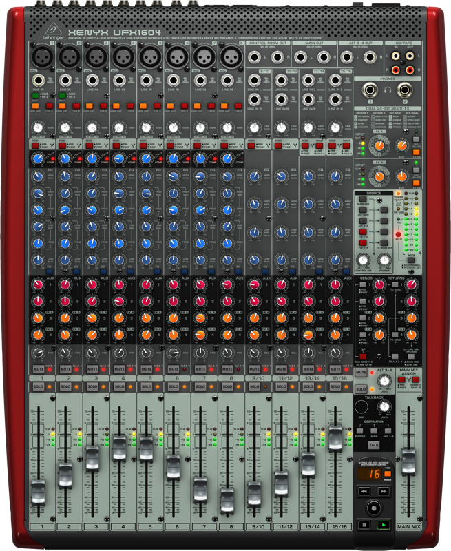behringer ufx1604 16 input 4 bus analog audio mixer. Black Bedroom Furniture Sets. Home Design Ideas