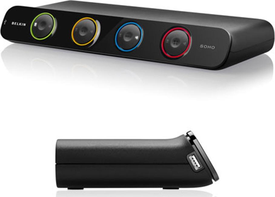 Belkin F1DH104L SOHO KVM Switch - Dual VGA & USB - 4-ports  F1DH104L