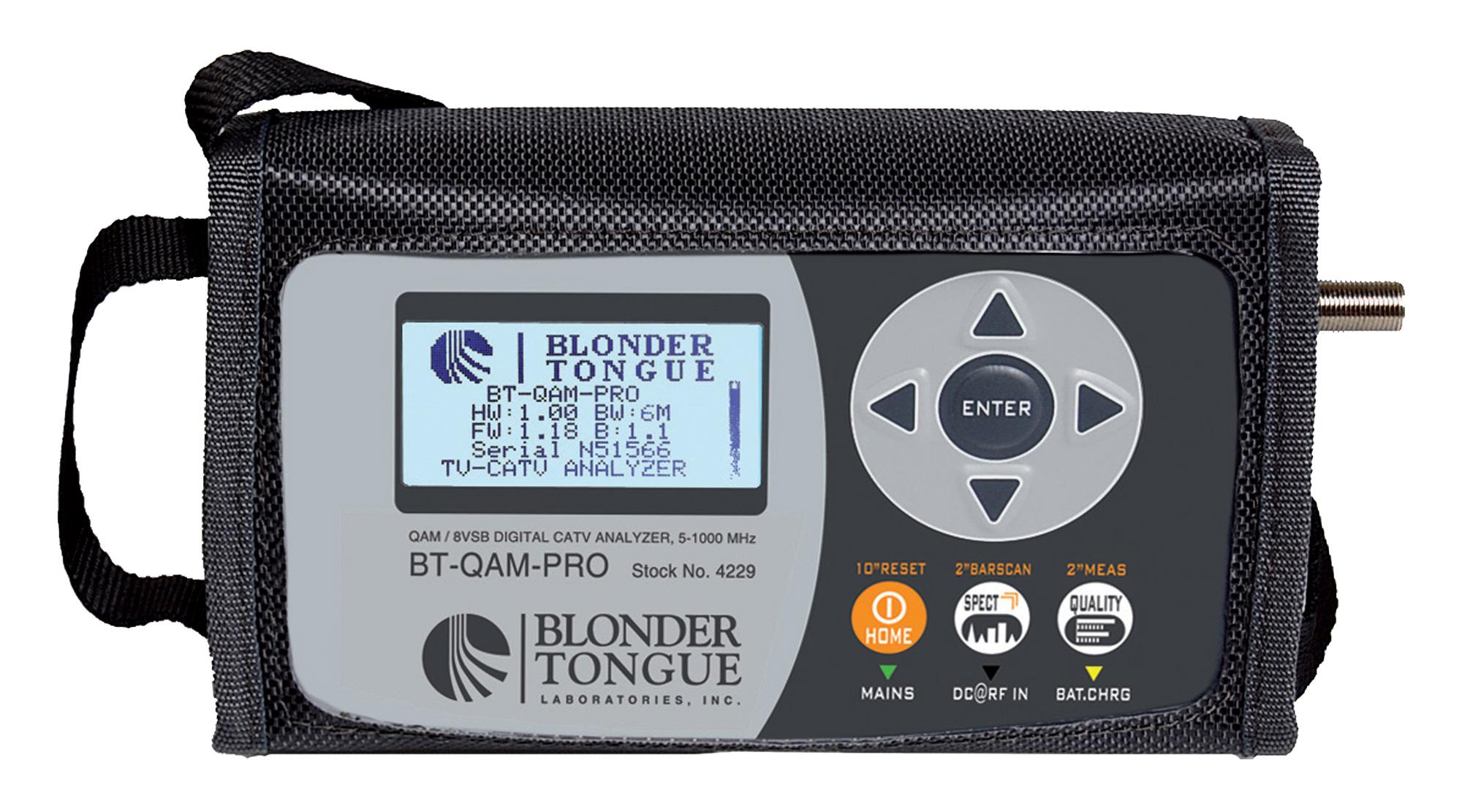 Blonder Tongue BT-QAM-PRO 8VSB Digital / QAM / CATV Analog TV Analyzer  BT-QAM-PRO