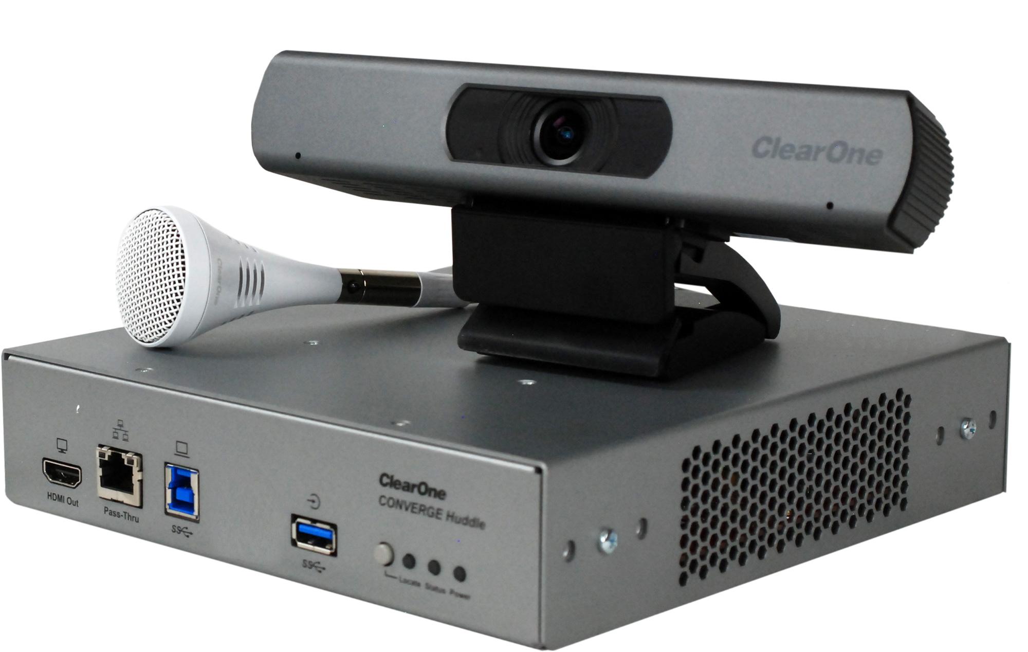 ClearOne COLLABORATE Versa 150 CONVERGE Huddle CTH/UNITE 150 USB PTZ HD Camera/Ceiling Mic Array - White CL1-930-3200-150