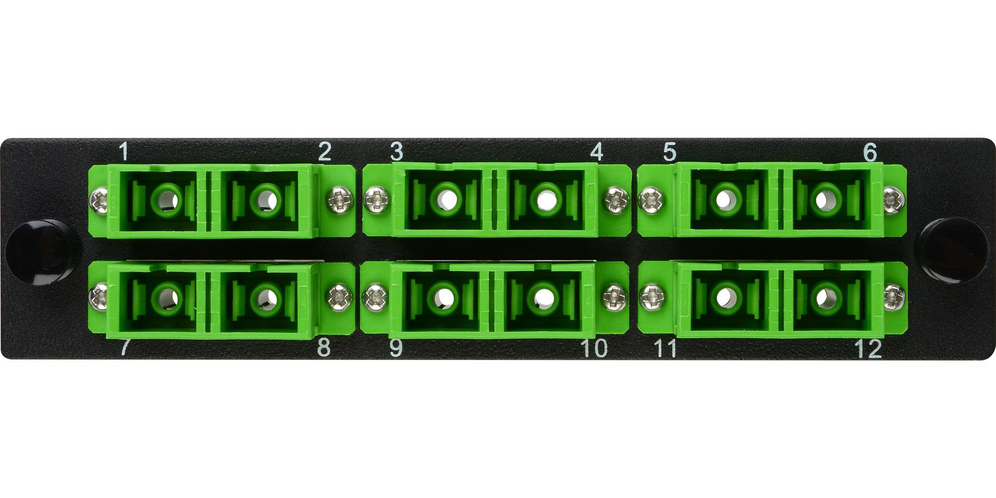 Camplex Cmx Mp12scda 6 Port Sc Apc Duplex Singlemode Fiber