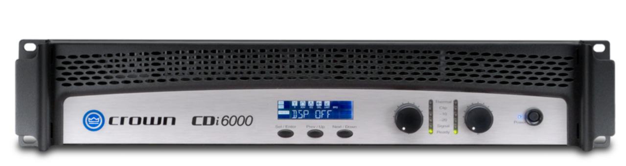 crown cdi6000 2 channel 1200 watt 8 ohm power amplifier. Black Bedroom Furniture Sets. Home Design Ideas