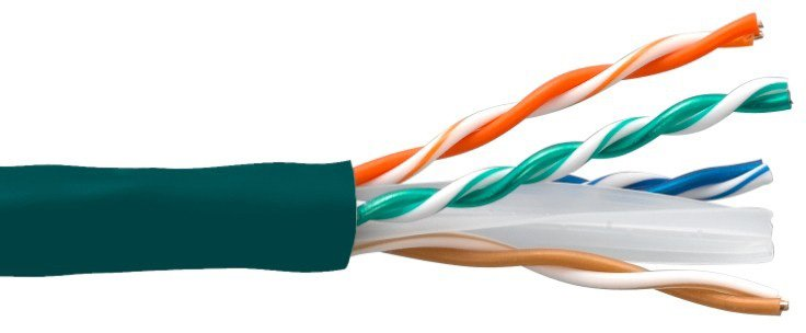 Connectronics 10X8-213TH-CMR 550MHz CAT6 Ethernet Cable - 1000 Foot - Green CTX-10X8213THCMR