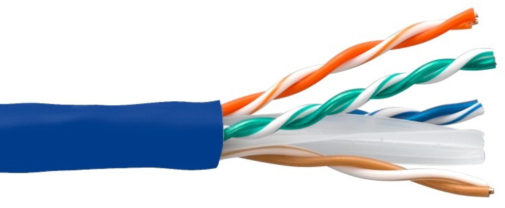 Connectronics 10X8-214TH-CMR 550MHz CAT6 Ethernet Cable - 1000 Foot - Blue CTX-10X8214THCMR
