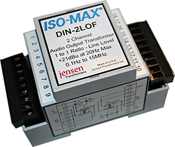 Jensen DIN-2LO-11FL Din Rail 2 Channel Line Output Transformer