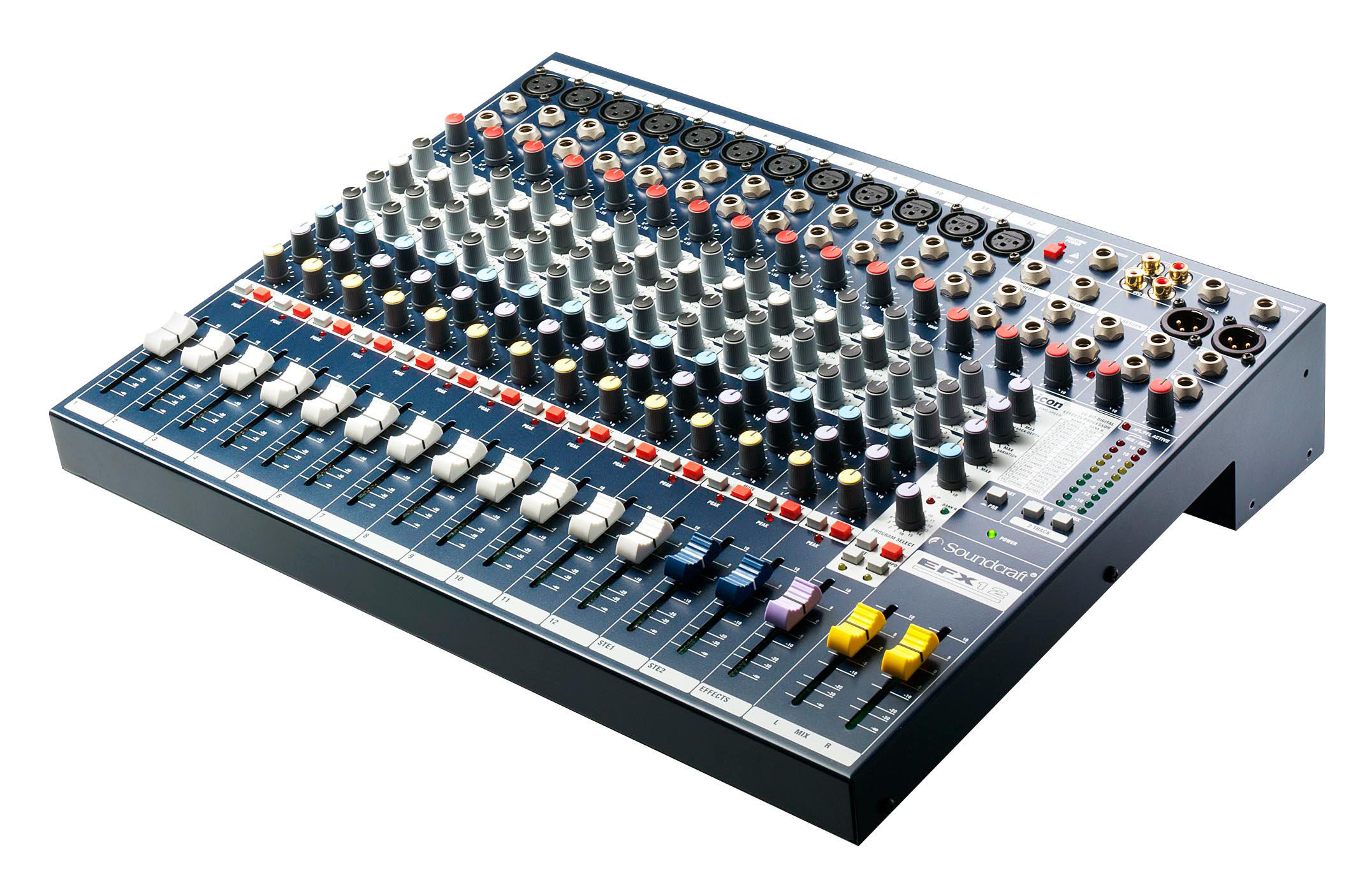 soundcraft efx12 k us 12 channel 2 bus audio mixer with lexicon fx. Black Bedroom Furniture Sets. Home Design Ideas