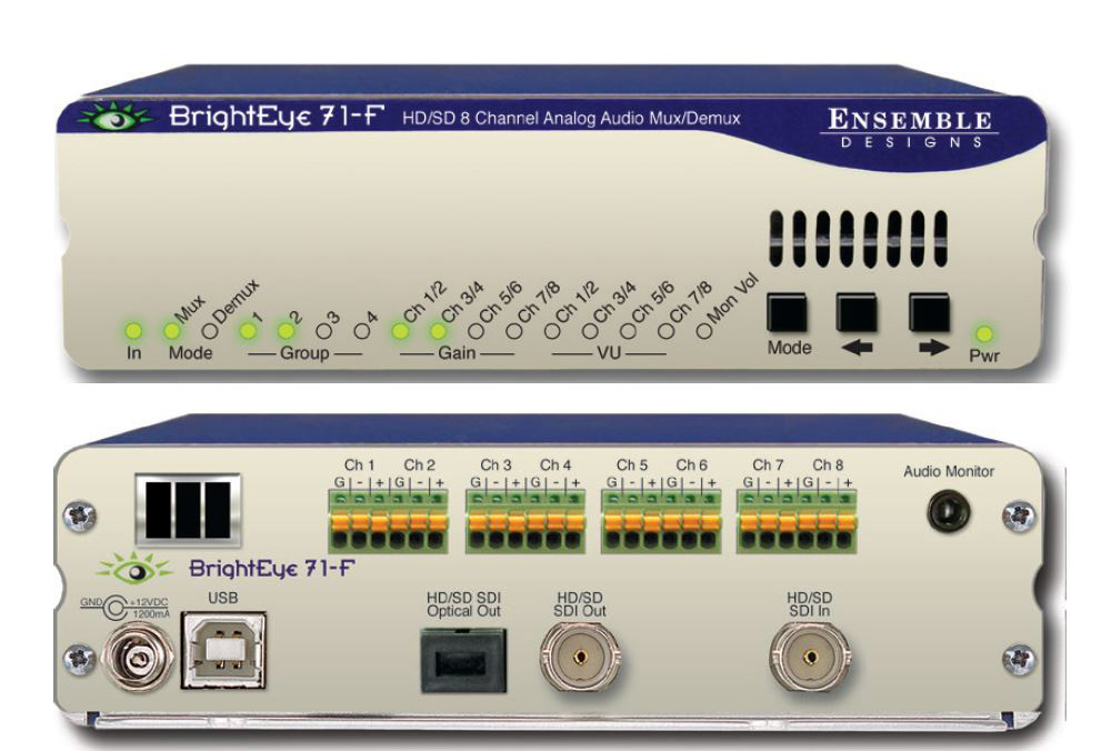 Ensemble Designs BE71-F BrightEye 71 HD/SD Analog Audio Embedder/Disembedder to Optical (Transmitter) ENDE-BE71-F
