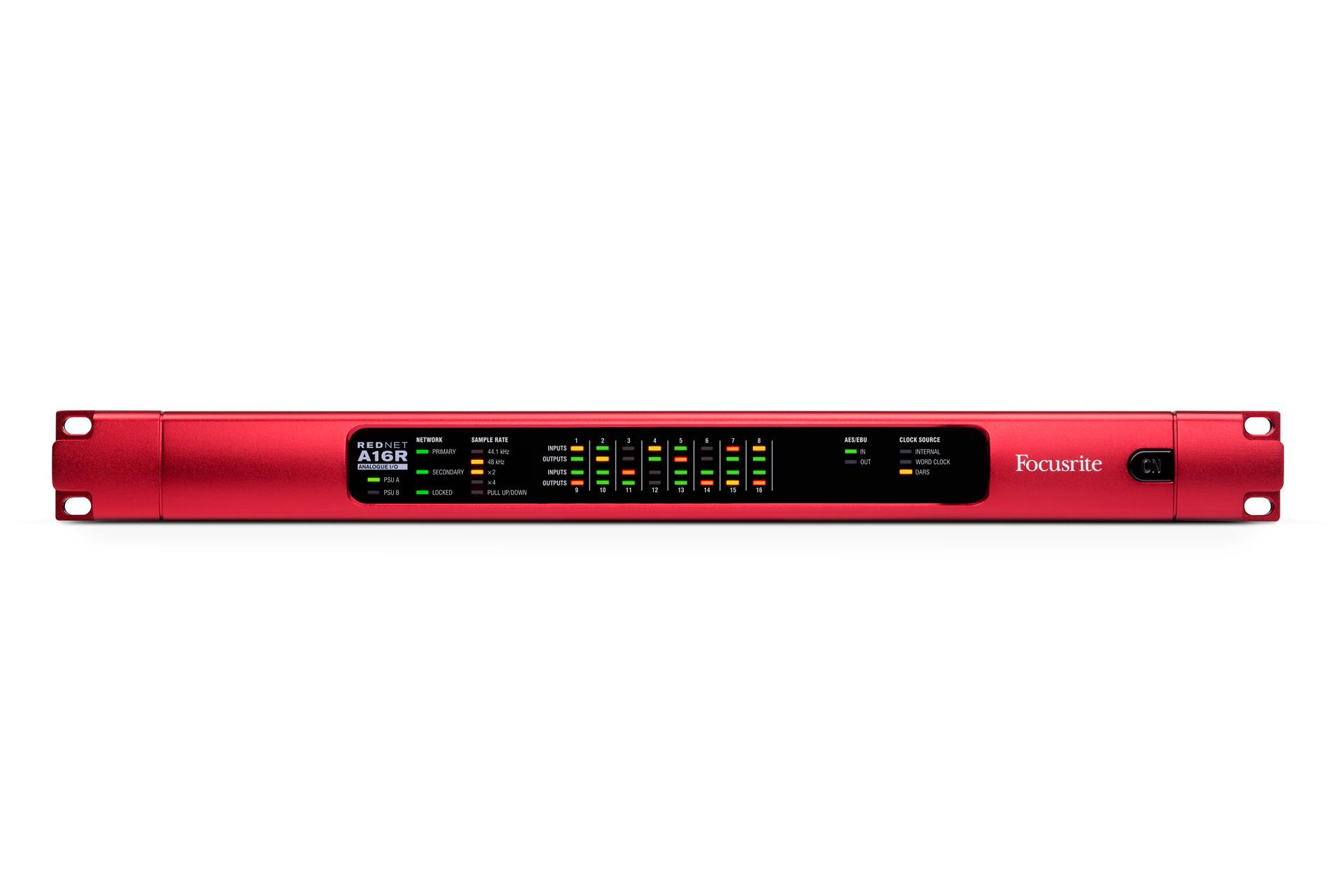 Focusrite REDNET-A16R Dante Networked A-D and D-A Converter