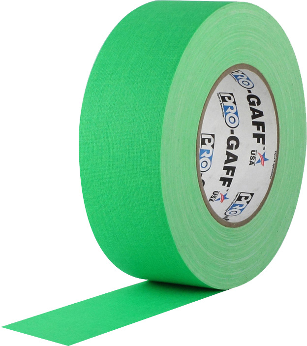 Pro Tapes 001UPCG450MFLGRN Pro Gaff Gaffers Tape FGT4-50 4 Inch x 50 Yards - Digital Key Fluorescent Green