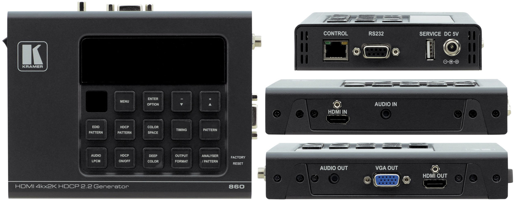 Kramer 860 4k60 444 Hdcp 22 Hdmi 20 6g Signal Generator Analyzer Tri Waveform