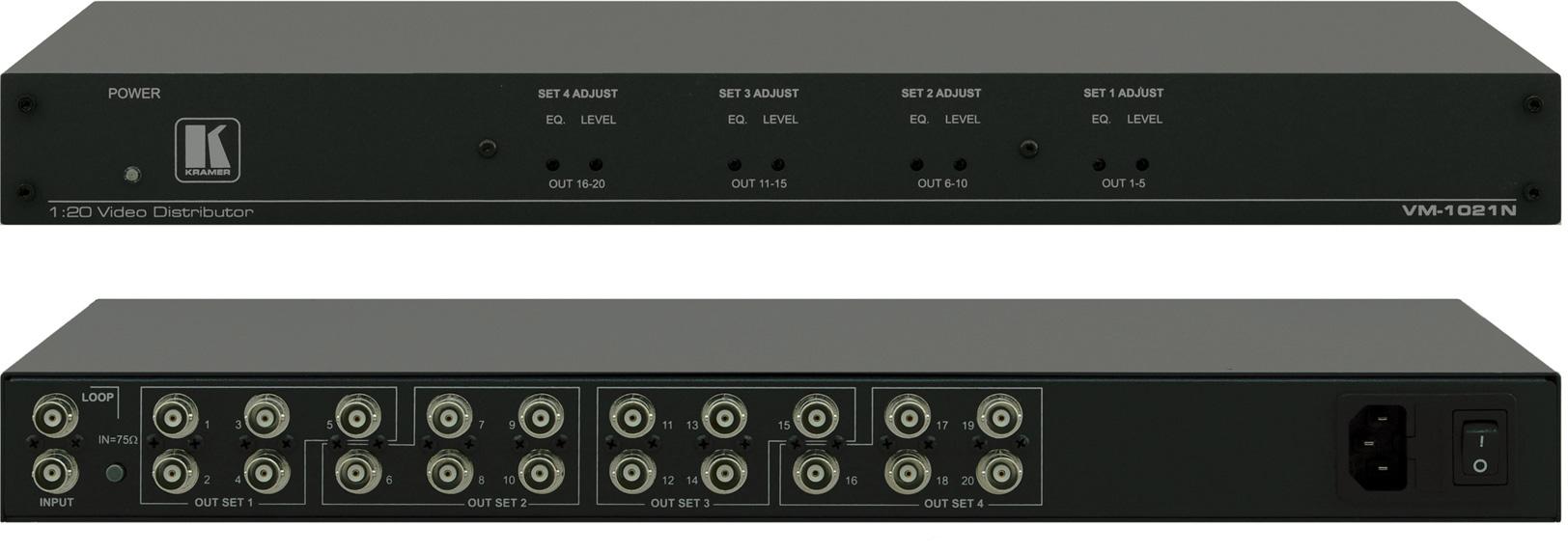 kramer vm 1021n 1 20 composite sdi video distribution amplifier