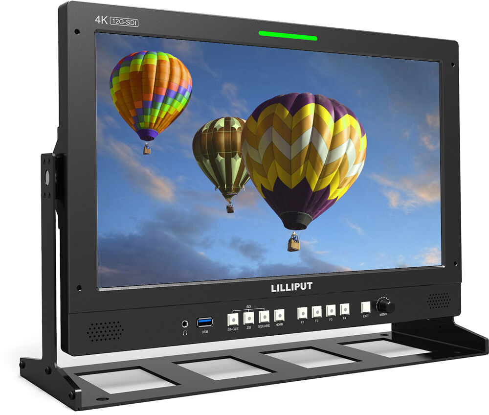 Lilliput Q31-VBP 31.5 Inch Base Mount 12G-SDI and HDMI Professional Production Studio Monitor with V-Lock Battery Plate LIL-Q31-VBP