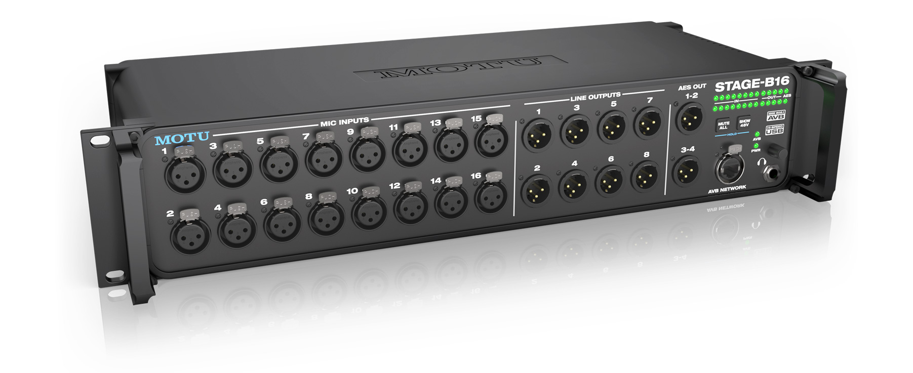 Motu Stage B16 16 Channel Stagebox And Audio Interface