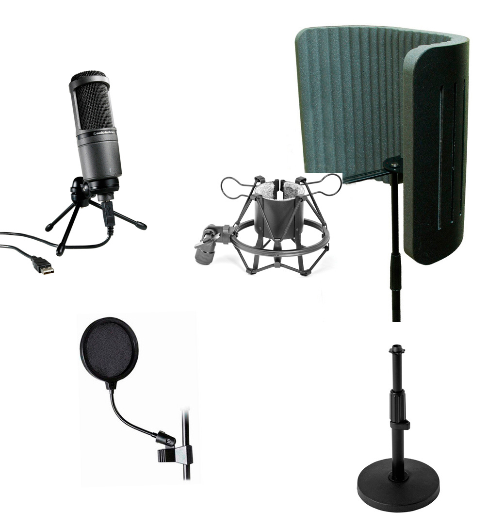 audio technica at2020 usb microphone desktop pack. Black Bedroom Furniture Sets. Home Design Ideas