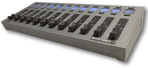 Mystery FC12X EasyMix Desktop DSP Motorized 12-Fader Control Surface with up to 24 Channels MYS-FC12X