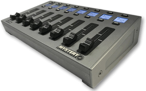 Mystery FC8X EasyMix Desktop DSP Motorized 8-Fader Control Surface with up to 16 Channels MYS-FC8X