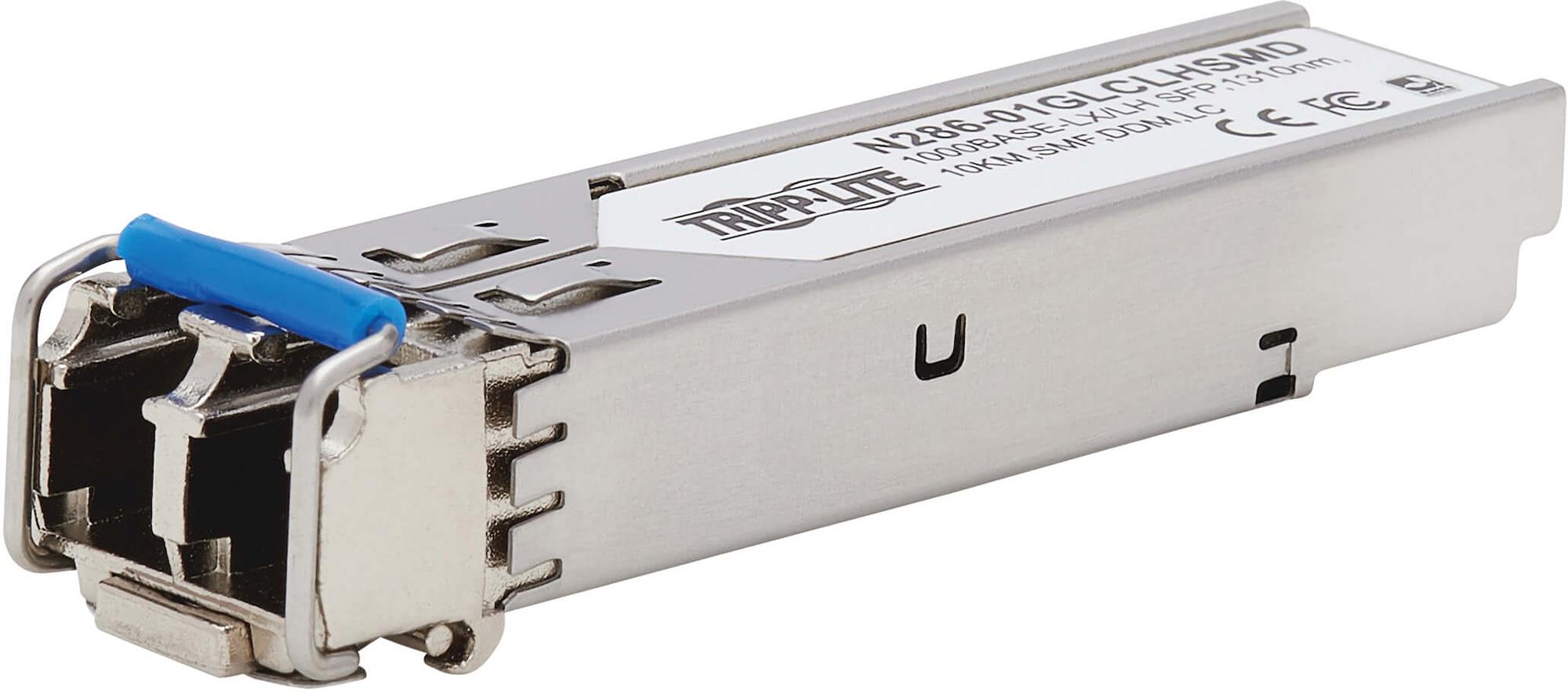Tripp Lite N286-01GLCLHSMD Cisco GLC-LH-SMD Compatible SFP Singlemode Transceiver 10/100/1000 LX/LH LC - 1310 nm - 10 km  N286-01GLCLHSMD