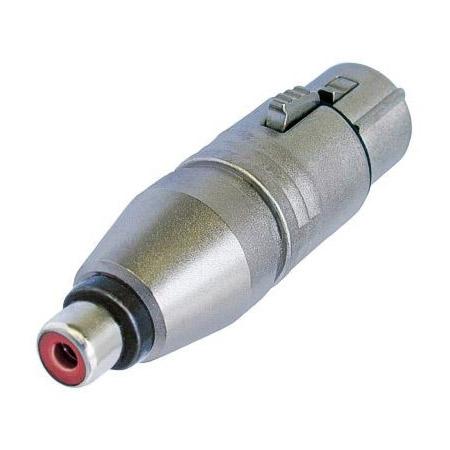Neutrik NA2FPMF 3 Pole XLR Female to RCA Female Audio Adapter