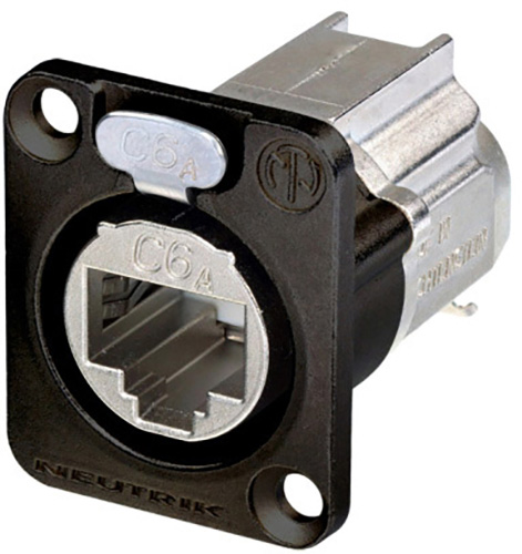 neutrik ne8fdx y6 b d shape cat6a ethercon panel connector shielded idc termination black housing Wiring Low Voltage Under Cabinet Lighting