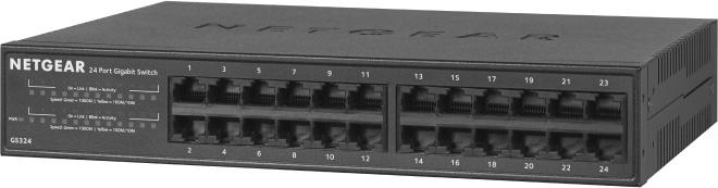 NETGEAR GS324-200NAS 24-Port Gigabit Ethernet Unmanaged Switch Desktop/Rackmount (GS324) NG-GS324-200NAS
