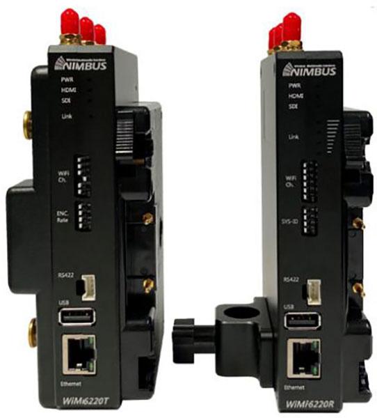 Nimbus WiMi6220T/R-G 3G-SDI/HDMI 5000 Foot Wireless Video H.264 Live Streaming Transmitter & Receiver - V-Mount NIMB-6220-SDI-VM