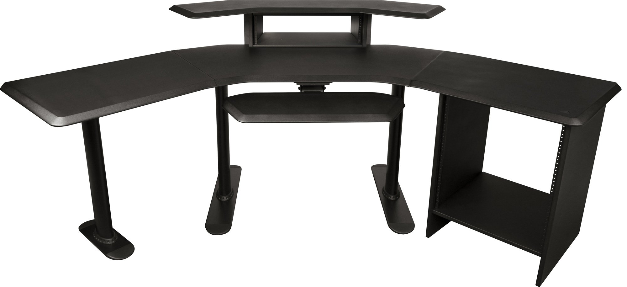 Nuc 004 Nucleus Series Studio Desk With 24 Inch Extension 12 Space Rack 2nd Tier 4