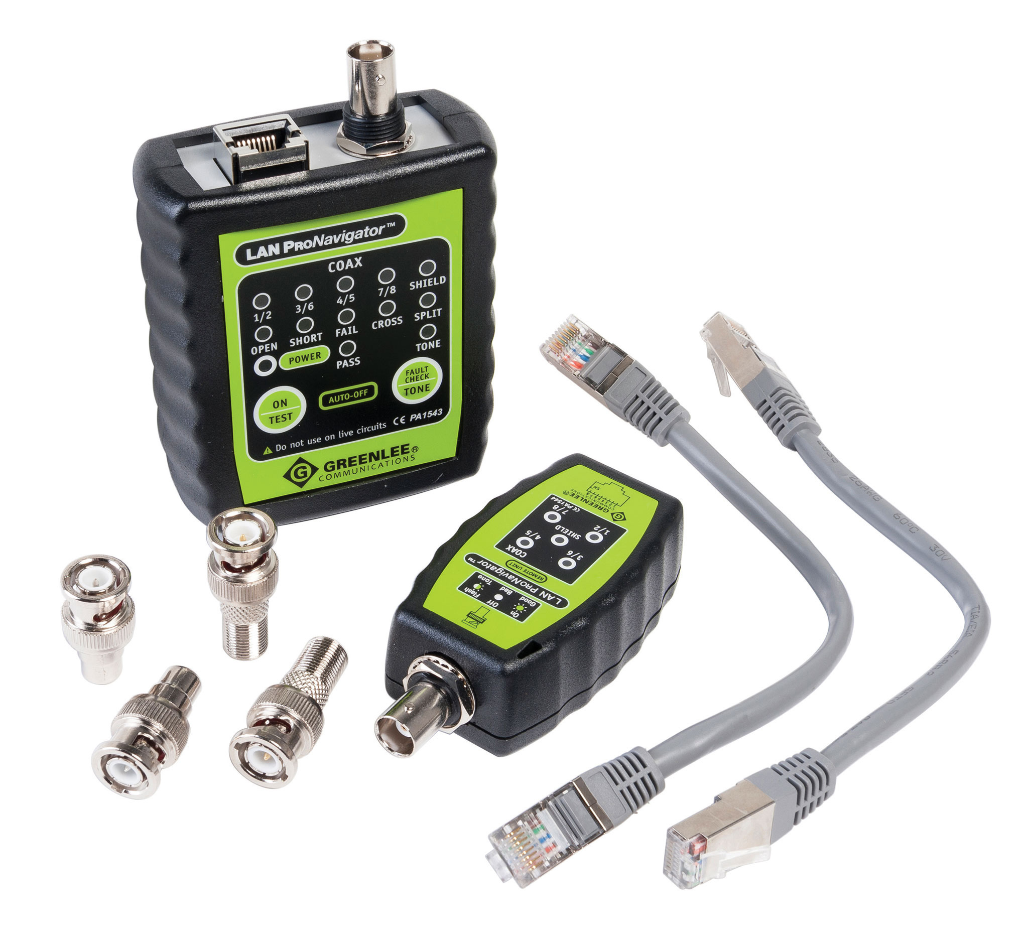Data Cable Tester : Greenlee data and coax network cable tester