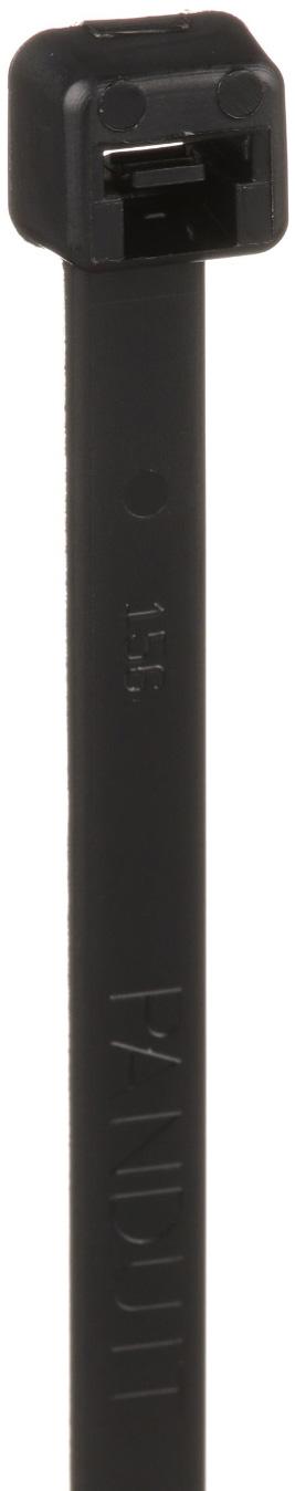Panduit PLT4S-M0 Locking Cable Tie - Standard Cross Section - 14.5 Inch Length - Black - 1000 Pack PAND-PLT4S-M0