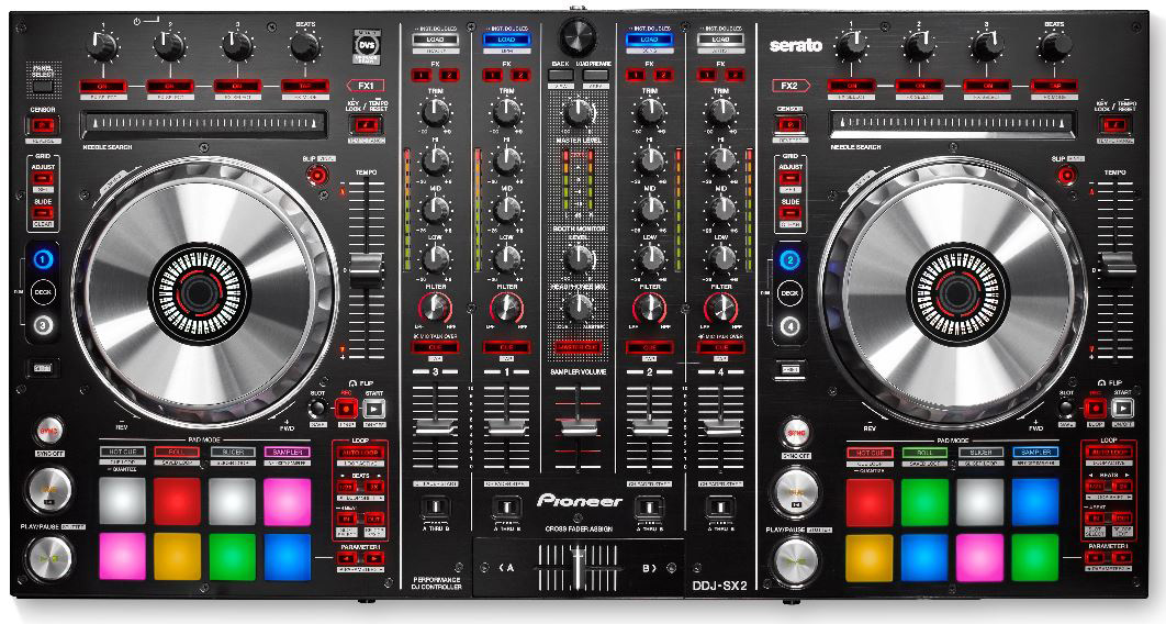pioneer ddj sx2 4 channel serato dj controller with. Black Bedroom Furniture Sets. Home Design Ideas