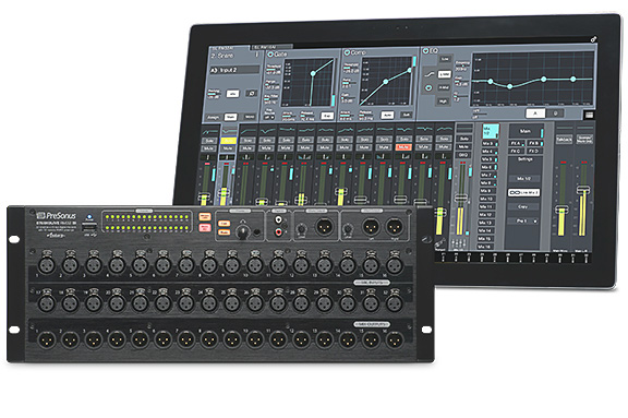 presonus studiolive rm32ai 32 channel touch software controlled digital mixer. Black Bedroom Furniture Sets. Home Design Ideas