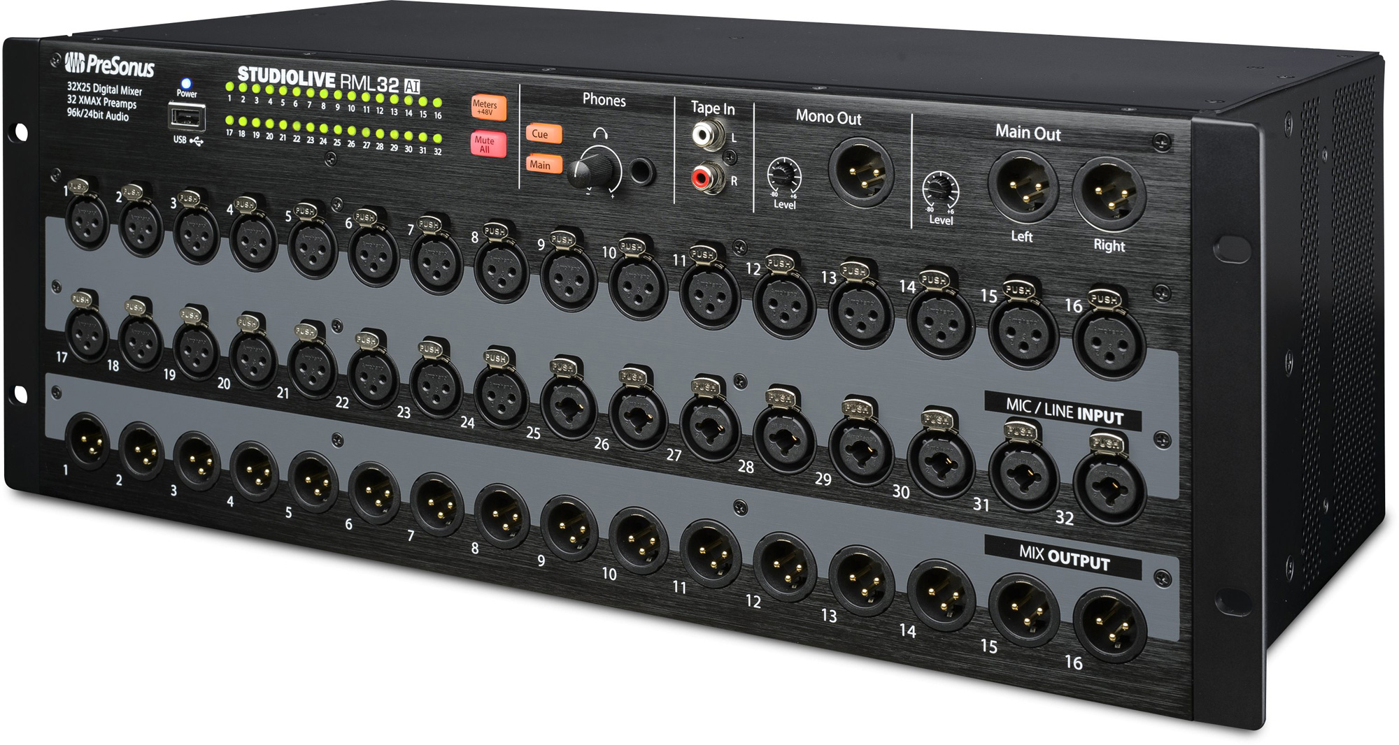 presonus studiolive rml32 ai 32 channel rack mount digital mixer with 16 remote xmax preamps. Black Bedroom Furniture Sets. Home Design Ideas