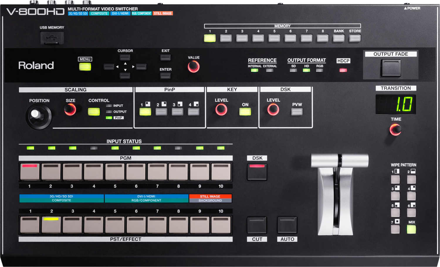 Roland V 800hd 8 Channel Multi Format Video Switcher