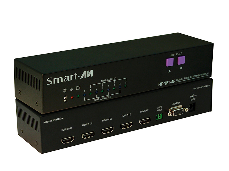 Smart Avi Hdn 4ps 4 Port Automatic 4x1 Hdmi Switcher With
