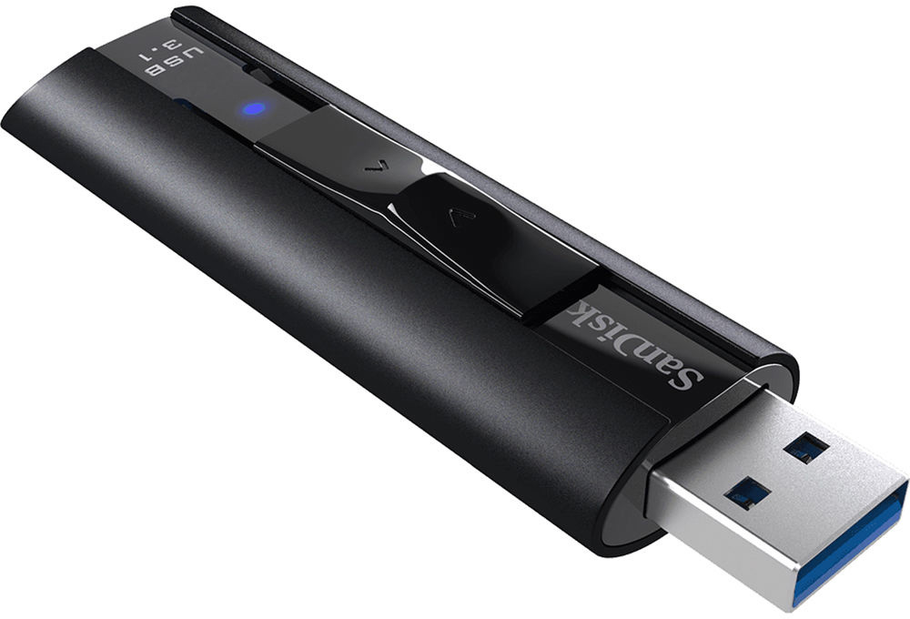 Sandisk SDCZ880-256G-A46 Extreme PRO USB 3.1 Solid State Flash Drive - 256 GB - USB 3.1 - Black  SDCZ880-256G-A46