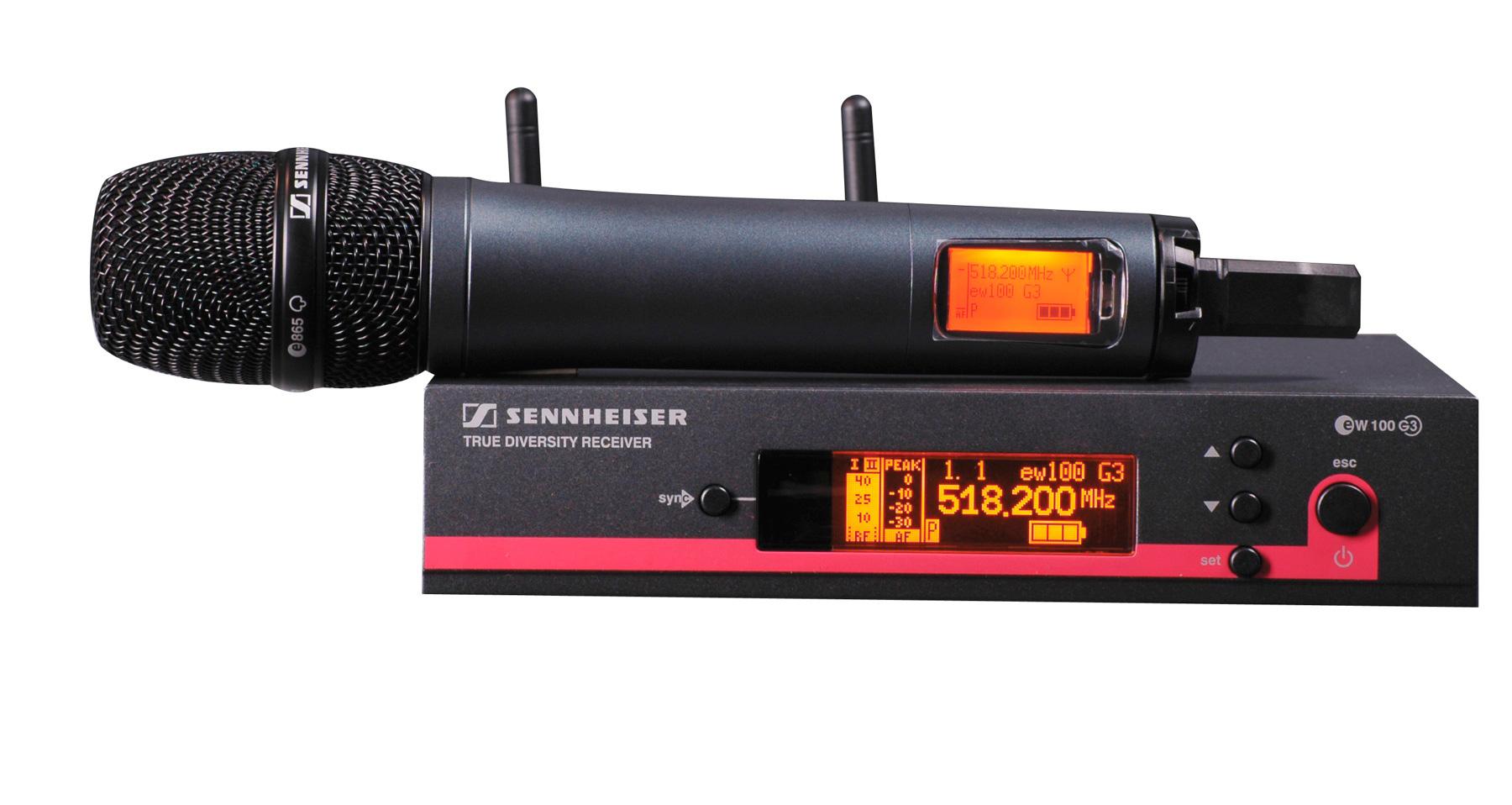sennheiser ew 165 g3 handheld wireless system 516 558 mhz. Black Bedroom Furniture Sets. Home Design Ideas