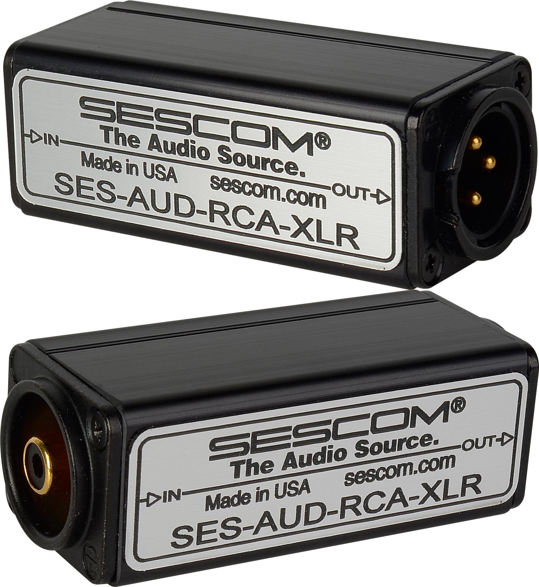 Sescom Aud Rca Xlr 1 Channel To Unbalanced Balanced Audio Wiring Converter