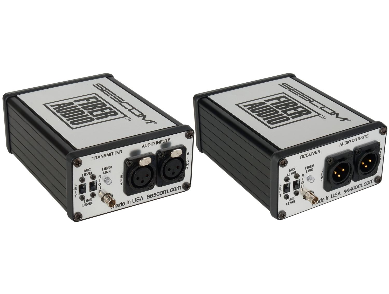 sescom ses fa2 portable 2 channel mic line level audio over fiber extender kit. Black Bedroom Furniture Sets. Home Design Ideas