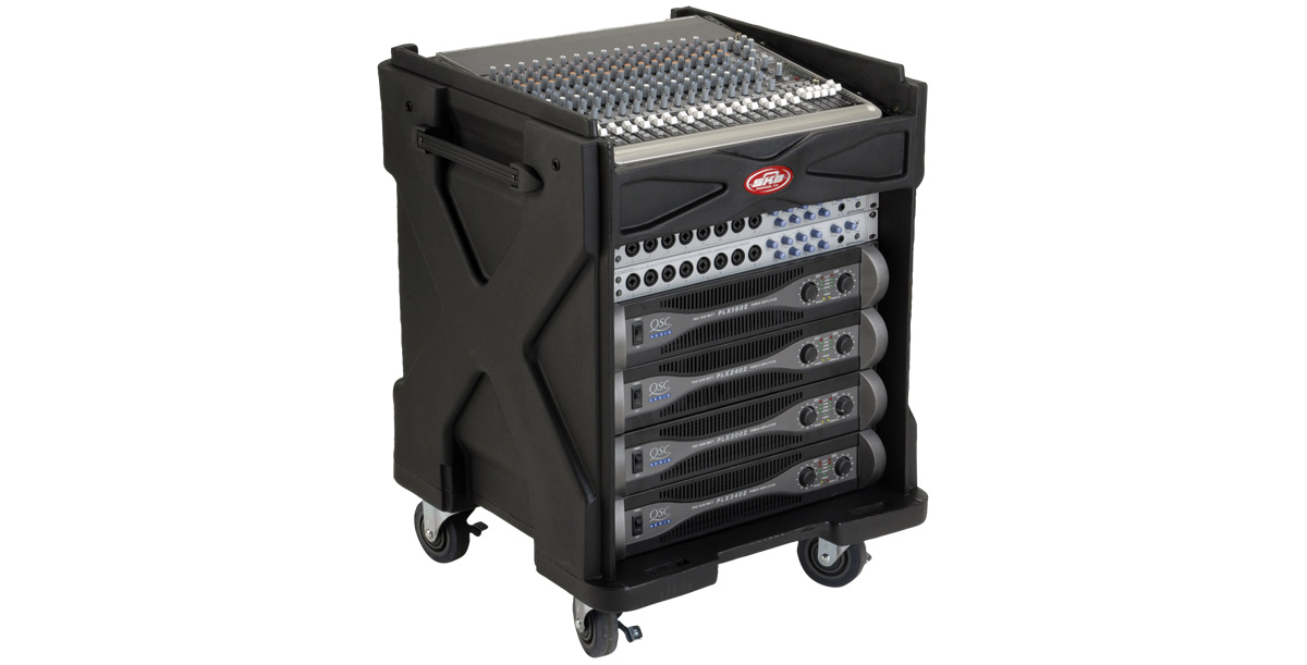 skb gig rig equipment and mixer case w wheels. Black Bedroom Furniture Sets. Home Design Ideas