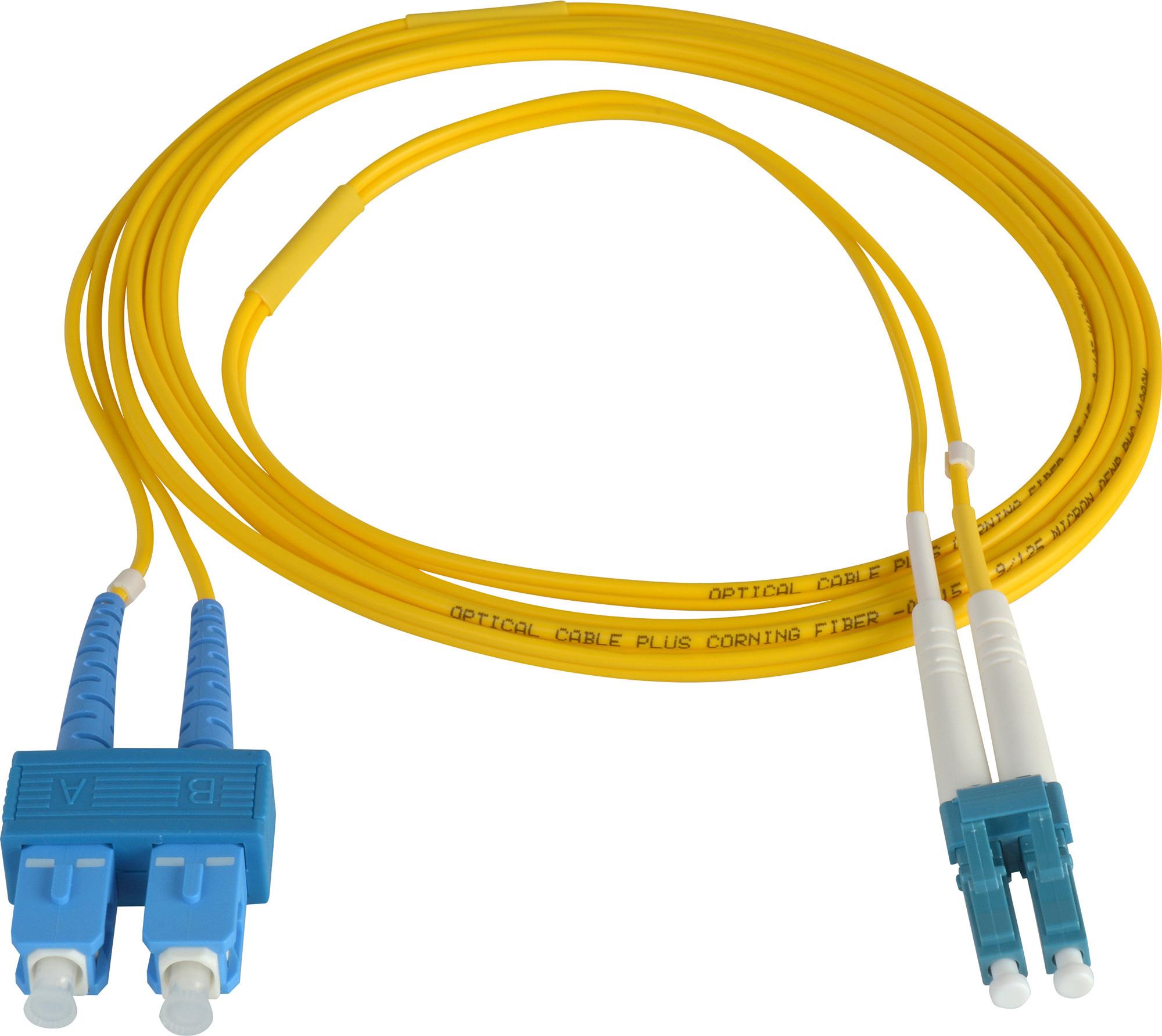 1 Meter 9u 125u Fiber Optic Patch Cable Singlemode Duplex Lc To Sc Usb Wiring Connector Zoom