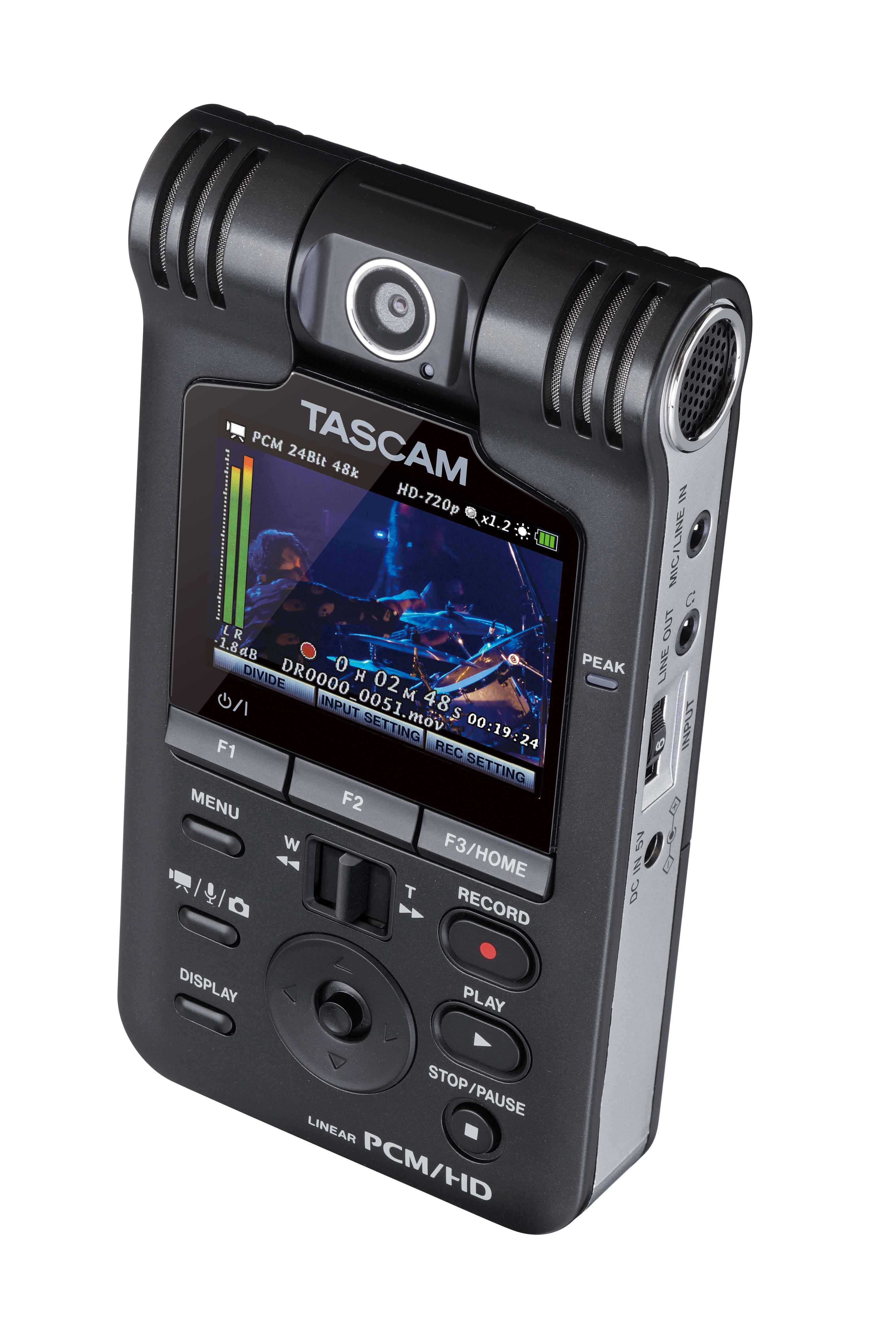 Tascam Dr V1hd Portable Handheld Audio Amp Video Recorder