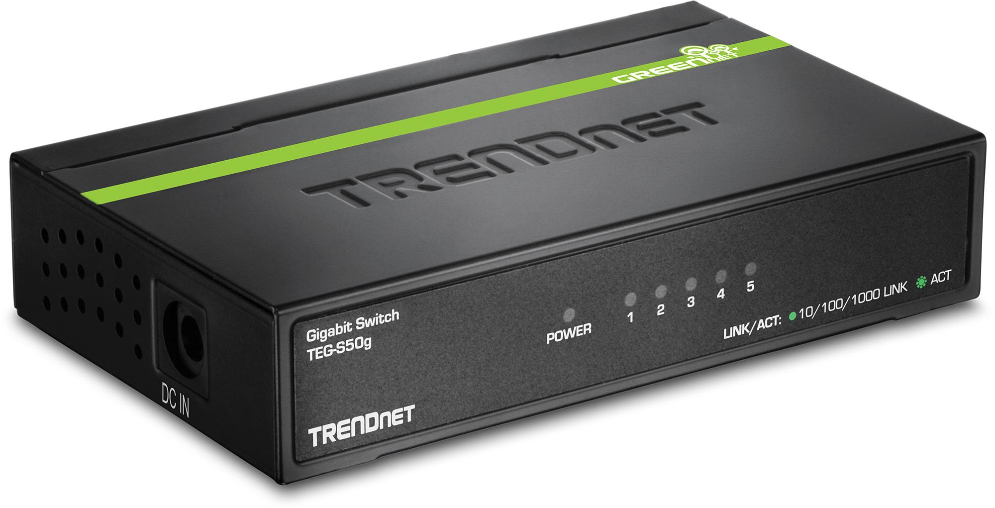 TRENDnet TEG S50G 5-Port Gigabit GREENnet Switch (Version V5.0R)  TEG-S50G