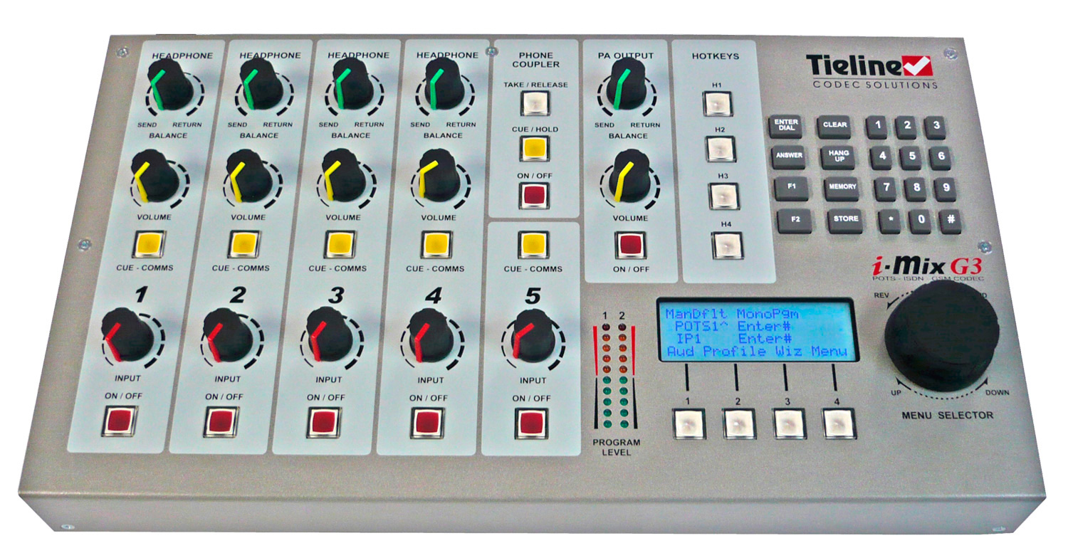 Tieline Tlm600 I Mix G3 5 Channel Remote Codec Ip Pots Standard Portable Audio Mixer